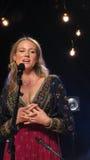 Klejnot Wykonywał Niektóre Jej Wielcy uderzenia Dla iHeartRadio Żywego W Nowy Jork Zdjęcia Stock