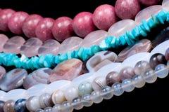 klejnotem sznurków kamieni do łóżka Fotografia Stock