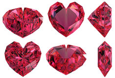 klejnotu serce odizolowywający kształt Zdjęcia Royalty Free
