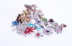 klejnoty biżuteria na tle zdjęcia royalty free