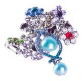 klejnoty biżuteria na tle fotografia royalty free
