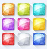 Klejnoty I klejnot ikony Ustawiający Dla wiszącej ozdoby guziki I App I Gemowy Ui Zdjęcie Royalty Free