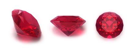 klejnoty rubinowi Zdjęcia Royalty Free