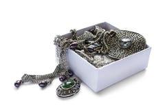 Klejnoty w pudełku Zdjęcie Royalty Free