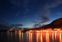 Klek sunset - Croatia. Klek - a Croatian resort - at sunset Royalty Free Stock Images