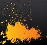 kleks czarny pomarańcze Fotografia Royalty Free