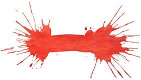 Kleks czerwona akwarela Obrazy Stock