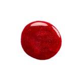 Kleks czerwony gwoździa połysk zdjęcie stock