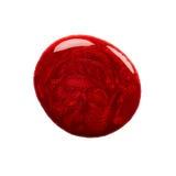 Kleks czerwony gwoździa połysk obrazy stock
