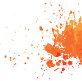 kleks pomarańcze Zdjęcia Stock