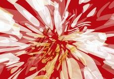 kleks poplamiony kwiat royalty ilustracja