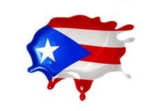 Kleks z flaga państowowa puerto rico obraz stock