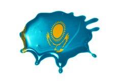 Kleks z flaga państowowa Kazakhstan Fotografia Stock