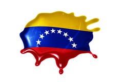 Kleks z flaga państowowa Venezuela Obraz Stock