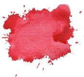 kleksa biel odosobniony czerwony Zdjęcie Royalty Free