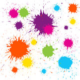 kleksa kolorowy projekta element kolorowy Fotografia Stock