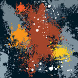 kleksy, atrament plamy, farb krople royalty ilustracja