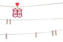 Klem op een streng, het hangen Chinees huwelijks gunstig woord, Cong royalty-vrije stock afbeelding