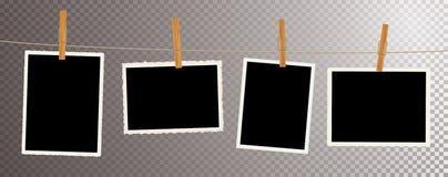 Klem van de foto's de oude kabel royalty-vrije illustratie