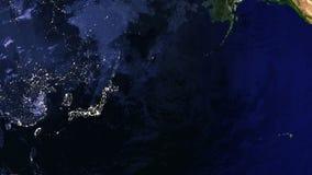 Klem van een roterende Aarde stock footage