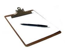 Klembord en Pen Royalty-vrije Stock Fotografie