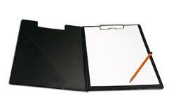 Klembord en potlood Stock Foto's