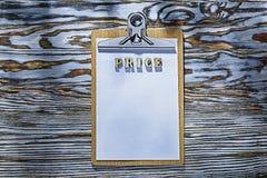 Klembord houten brieven op houten raads hoogste mening Royalty-vrije Stock Afbeeldingen