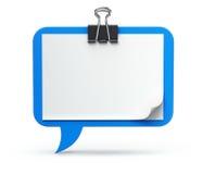 Klembord - toespraakbel Stock Foto's