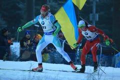 Klemen Bauer - biathlon photographie stock