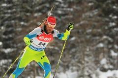 Klemen Bauer - biathlon Royalty Free Stock Photo