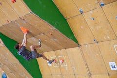 Klemen Becan, qualification bouldering de Vail Photo stock