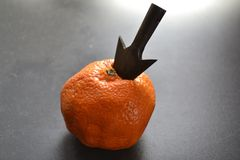 Klementine und Pfeilspitze Lizenzfreies Stockfoto
