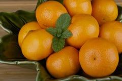 Klementinen Stockfoto
