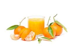 Klementinensaft lokalisiert lizenzfreie stockfotos