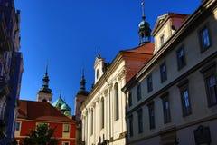 Klementinum historiska byggnader, Prague, Tjeckien Royaltyfri Bild