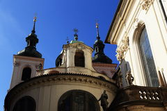 Klementinum historiska byggnader, Prague, Tjeckien Arkivbild