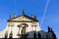 Klementinum Prague Royaltyfri Fotografi