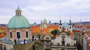 Klementinum and Stare Mesto in Prague Stock Images