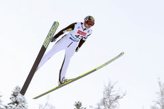 KLEMETSEN Haavard (NOR). At the FIS Nordic Combined World Cup, 12 January 2013.Chaux-Neuve.France Royalty Free Stock Images