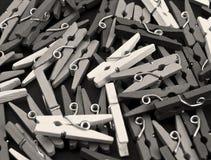 Klemmen in zwart-wit Stock Fotografie
