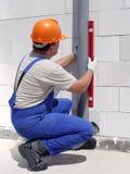 Klempner bei der Arbeit Stockfotografie