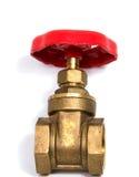 Klempner mit Wasserhahn Stockfoto