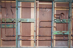 Klempnerarbeit-Rohre Stockfotos