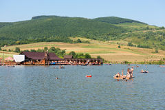 KLENOVETS, UKRAINE- AUGUST 09, 2015: People enjoying summer time Royalty Free Stock Photography