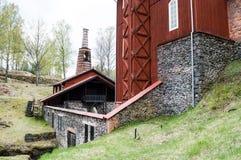 Klenshyttan-Eisen, das gegründet im Anfang des 17. Jahrhunderts macht Stockfotos