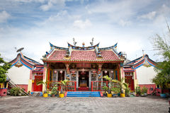 Klenteng Poncowinatan chinese temple in Yogyakarta , Java. Royalty Free Stock Photography