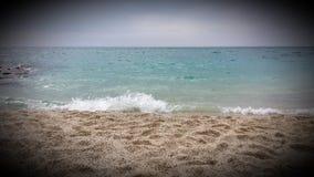 Kleopatra strand i Alanya Arkivbilder