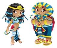 Kleopatra und Pharao lizenzfreie abbildung