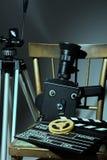 Klep van de driepoot de oude filmcamera Stock Fotografie