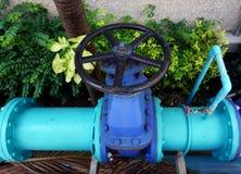 Klep van waterpijpleiding Stock Foto